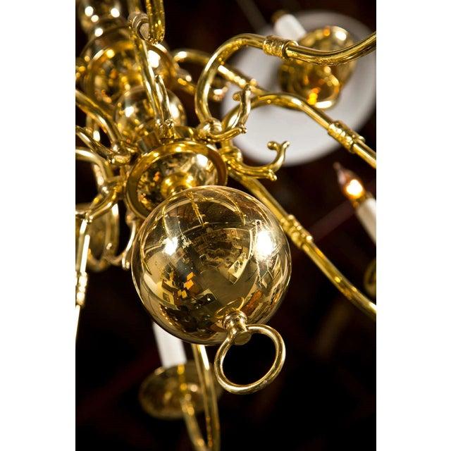 Twelve Light Brass Ball Form Chandelier - Image 5 of 8