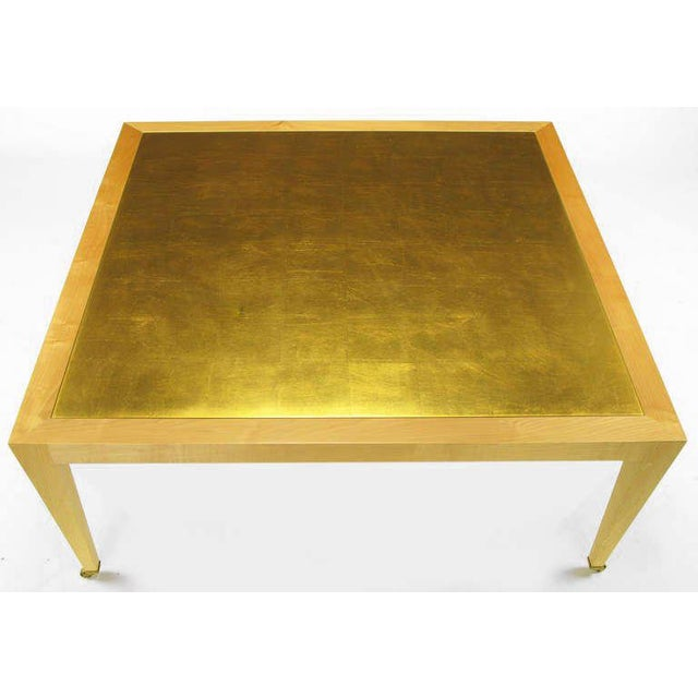 Terrific Donghia Square Flame Maple Gold Leaf Coffee Table Cjindustries Chair Design For Home Cjindustriesco