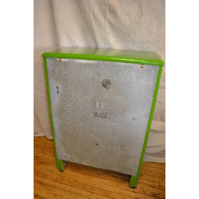 Green Ice Box Refrigerator Bar by Windsor, circa 1920s For Sale - Image 5 of 10