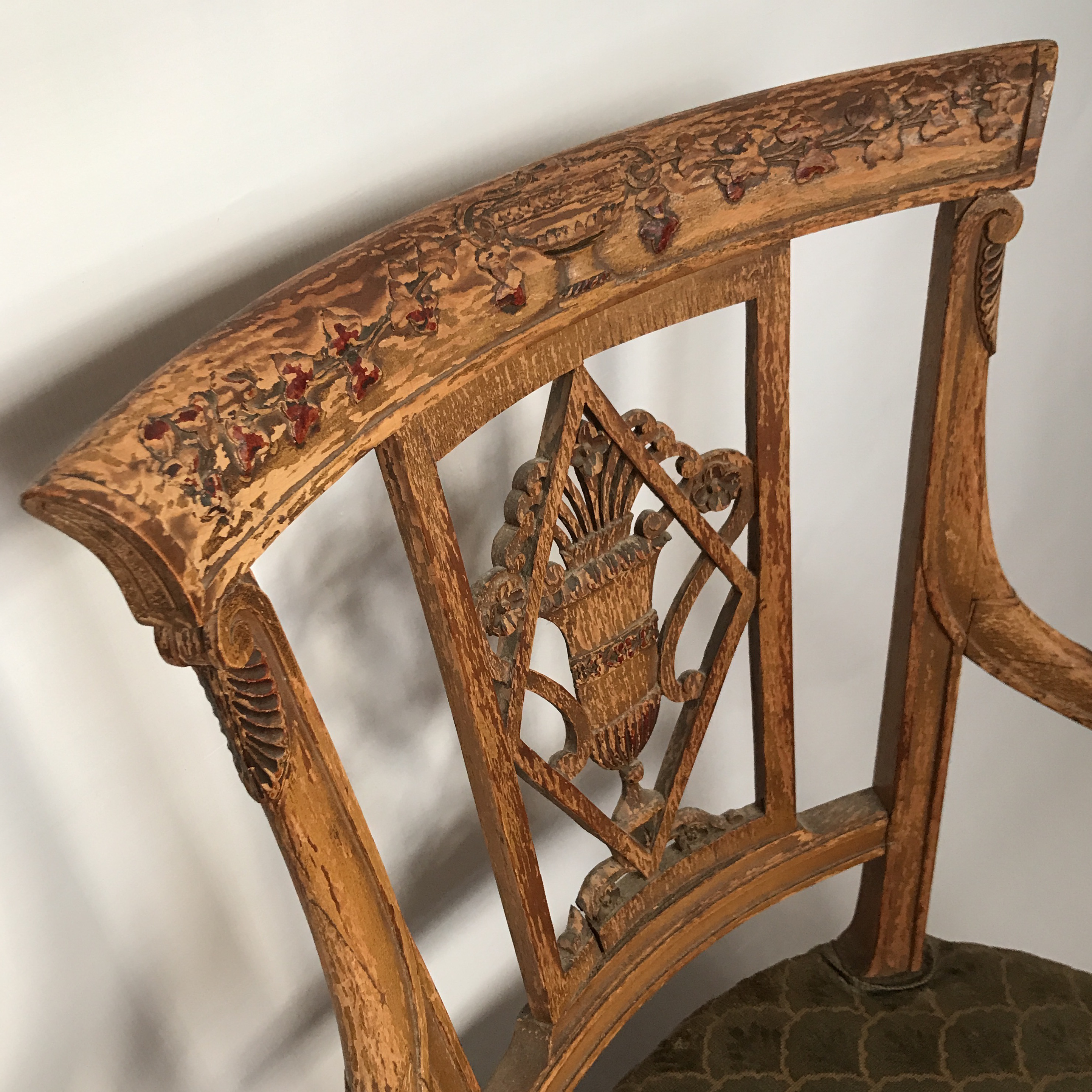 Neoclassical Italian Carved Wood Arm Chair   Image 7 Of 11