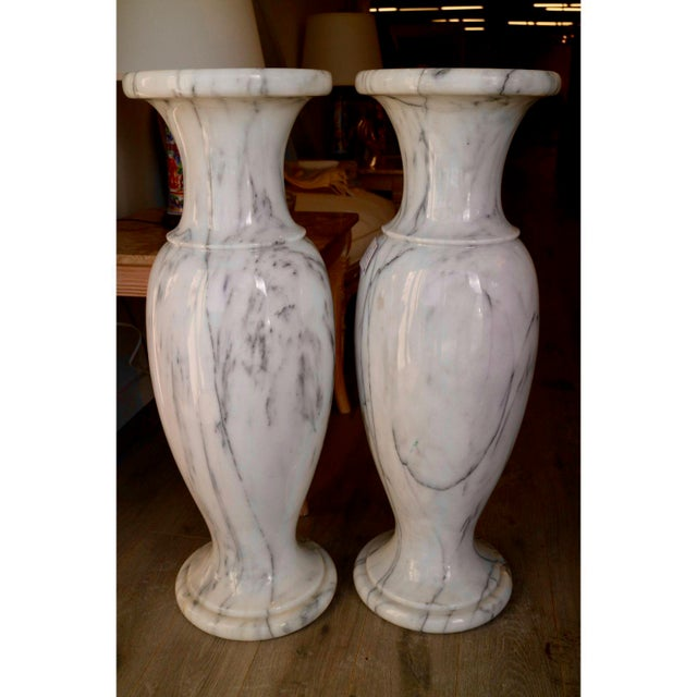 Distinguished Vintage Marble Vases A Pair Decaso