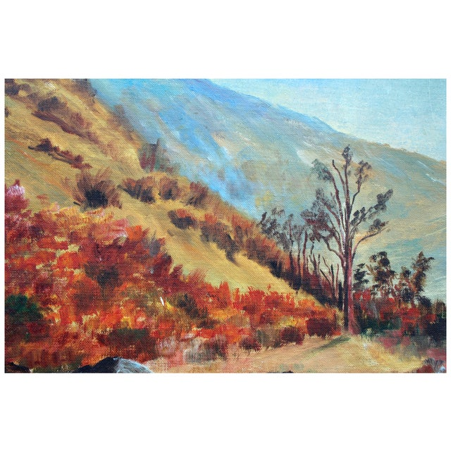 Impressionism California Hills Painting by Hauser For Sale - Image 3 of 4