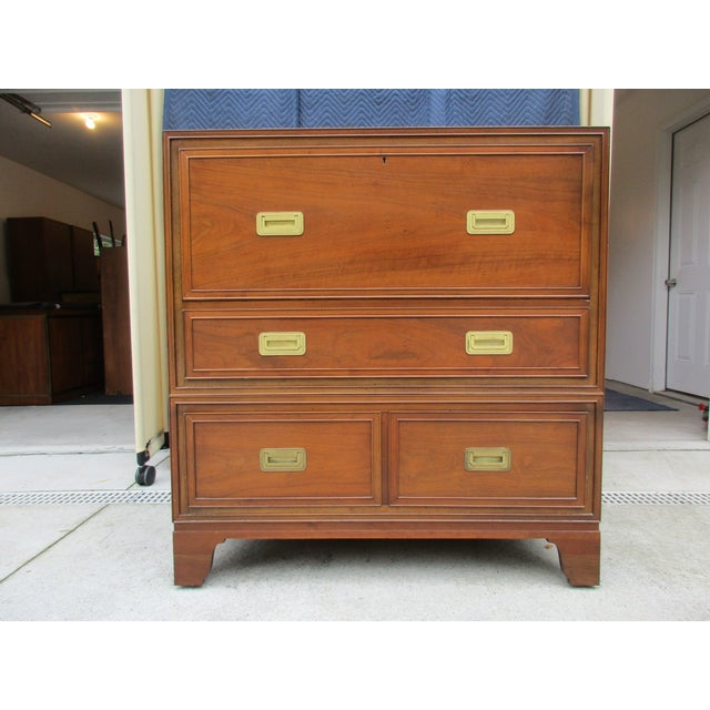 Baker Milling Road Campaign Style Secretary Desk For Sale - Image 13 of 13