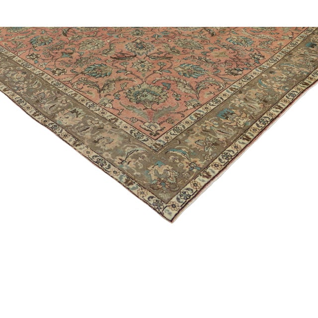 Vintage Persian Traditional Style Tabriz Rug - 10' x 11' - Image 2 of 6