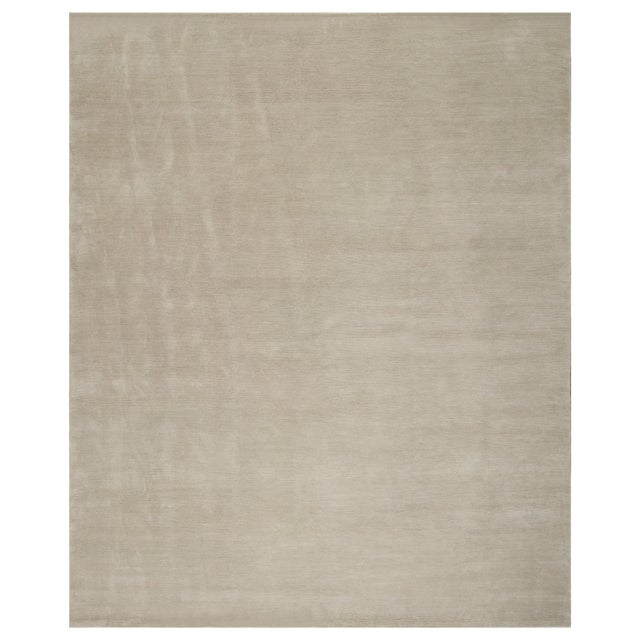 Stark Studio Rugs Contemporary Oriental Silk and Wool Rug - 10' X 14' For Sale