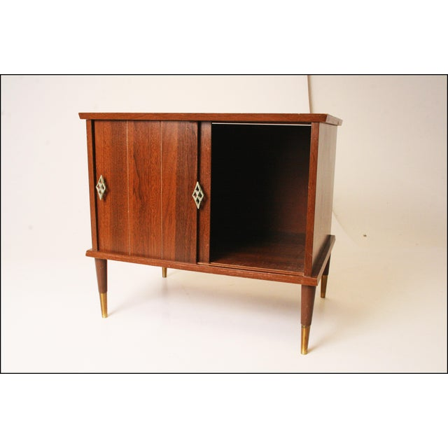 Mid-Century Modern Vintage Mid-Century Modern Record Storage Cabinet For Sale - Image 3 of 11