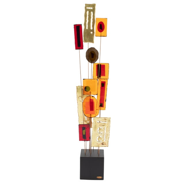C. Jeré Artisan House Resin and Brass Tabletop Sculpture, Circa 1966 For Sale - Image 13 of 13