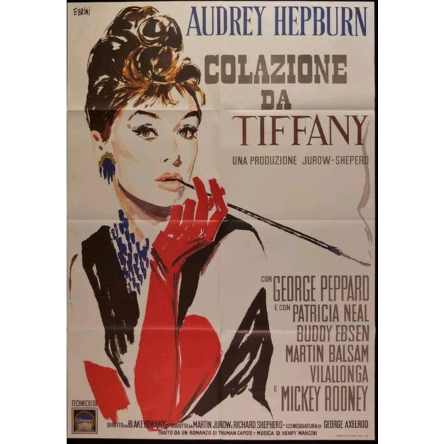 "American Classical ""Breakfast at Tiffanys"" Italian Movie Poster For Sale - Image 3 of 5"