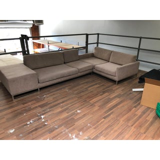 Ligne Roset Styled Sectional Modern Sofa With Chrome Base Preview