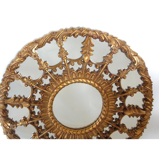 Gold Regency Style Round Mirror For Sale - Image 8 of 8