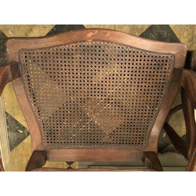 Brown French Caned Chairs - a Pair For Sale - Image 8 of 11