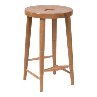 Milkmaid Counter Stool in Natural Oak For Sale