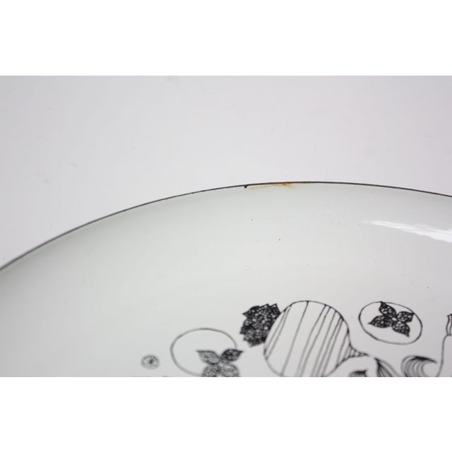 Paint Georges Briard Enamel Fruit / Vegetable Plate For Sale - Image 7 of 9