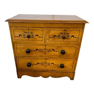 1940s Painted Pine Chest of Drawers For Sale