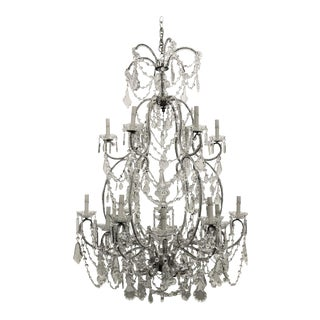 Large French Crystal Chandelier For Sale