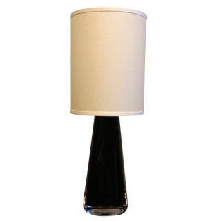 20th Century Crystal Glass Table Lamp by Orrefors, Sweden For Sale