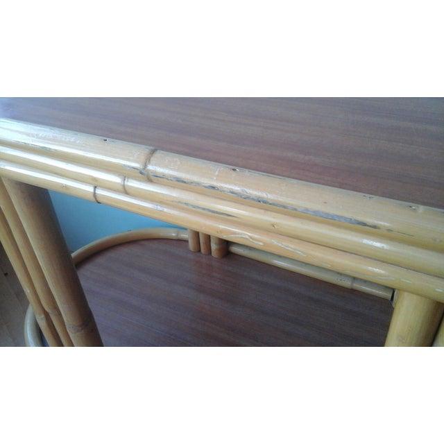 Vintage Ritts Tropitan Tiki Rattan Bamboo Bar Cart - Image 8 of 10