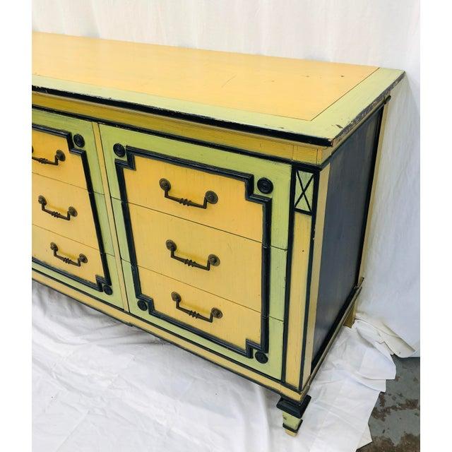 Vintage Painted Credenza Dresser For Sale - Image 9 of 12