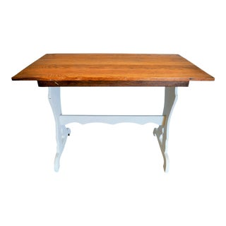Solid Wood Rustic Farm Table