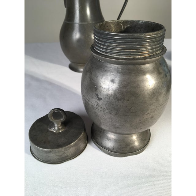 Early 19th Century Collection of 4 Antique Pewter Articles For Sale - Image 5 of 10