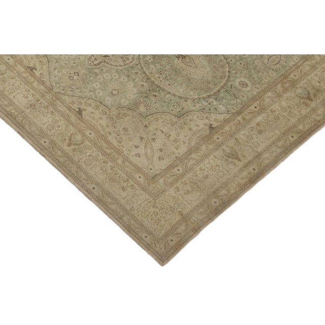 51292 Distressed Vintage Turkish Sivas Rug with Modern Rustic Cotswold Cottage Style 08'00 x 12'05. With its soft,...