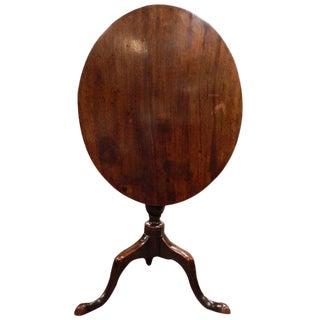 English Oak Tripod Oval Tilt-Top Table, 18th Century For Sale