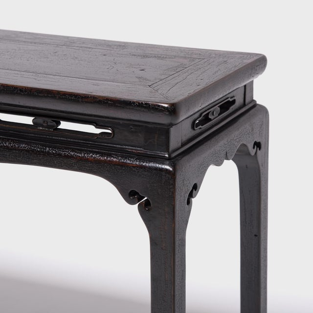 19th Century Chinese Console Table With Cusped Apron For Sale In Chicago - Image 6 of 9