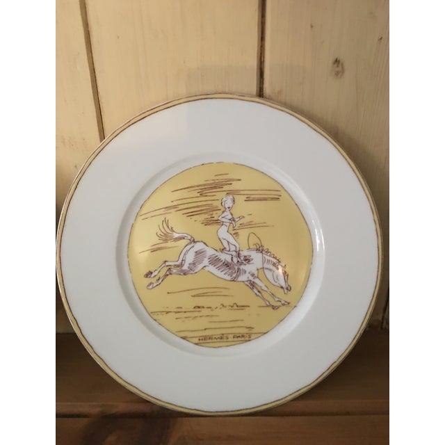 Vintage Hermès 6-Piece Dinner Plate Set For Sale - Image 9 of 10