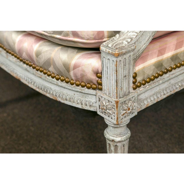 Distressed Paint Louis XVI Style Settee by Jansen - Image 7 of 10