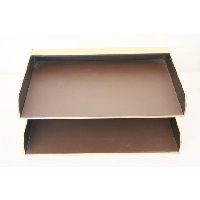William Sklaroff Radius Two Brass Desk Tray For Sale - Image 9 of 11