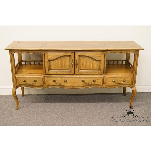 """French Thomasville Furniture Chateau Collection French Country 64"""" Server / Buffet For Sale - Image 3 of 13"""