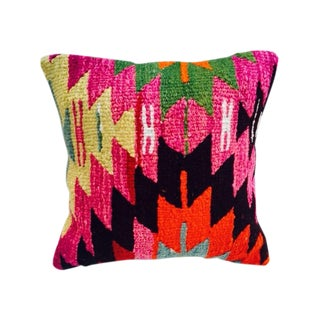 Vibrant Turkish Kilim Pillow