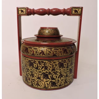 South East Asian Ceremonial Lacquered Rice Vessel