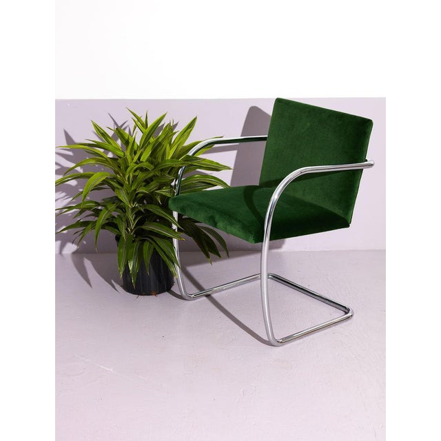 Bauhaus Ludwig Mies Van Der Rohe Tube Chrome Cantilever Side Chair For Sale - Image 3 of 7