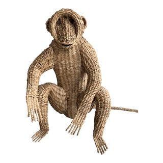 1970s Mario Lopez Torres Rattan Monkey For Sale