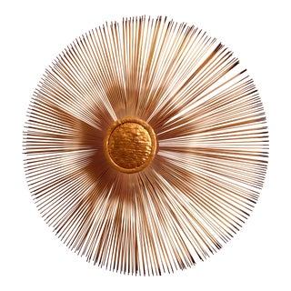 1970s Vintage Curtis Jere Sunburst Wall Sculpture For Sale