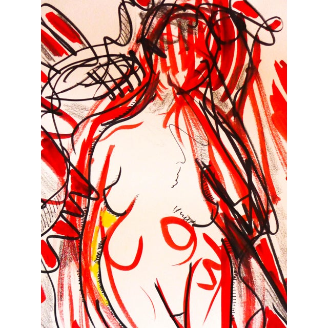 Nude Dancing to Music Drawing - Image 4 of 6