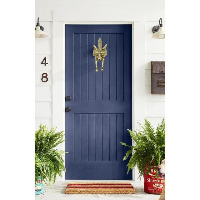 Mid-Century Modern Vintage Brass Fox Door Knocker For Sale - Image 3 of 9