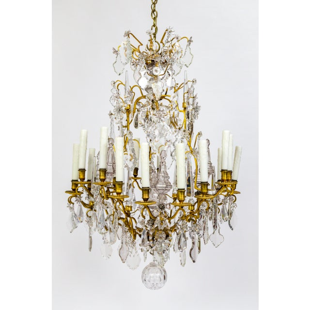 18-Arm Gilded Bronze Birdcage Chandelier For Sale - Image 13 of 13