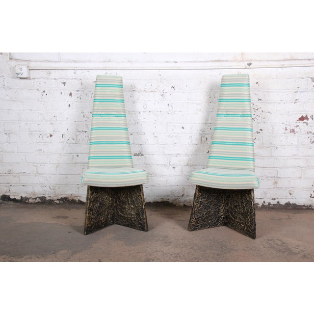 White Adrian Pearsall Mid-Century Brutalist High Back Dining Chairs - Set of 4 For Sale - Image 8 of 13