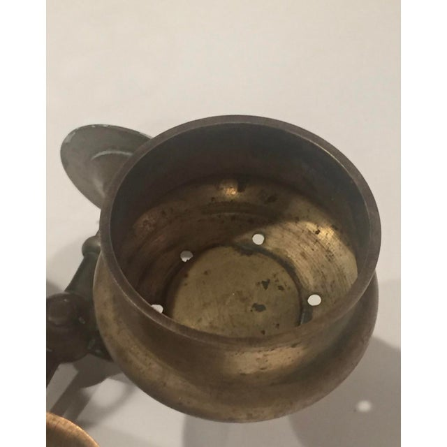 Vintage Brass Bathroom Wall Fixture For Sale In Seattle - Image 6 of 12