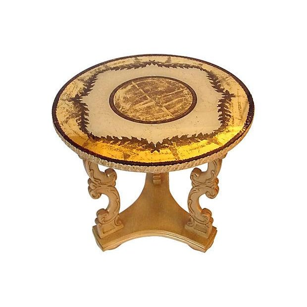 Glass Top Occasional Table For Sale - Image 7 of 7