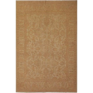 """Contemporary Ziegler Sun-Faded Letha Beige Wool Rug -7'11"""" X 10'8"""" For Sale"""