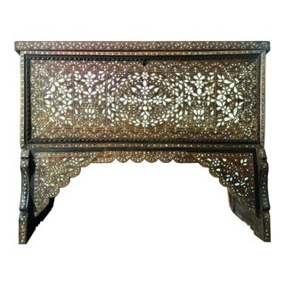 Antique 19th Century Mother of Pearl Inlaid Bridal Chest For Sale
