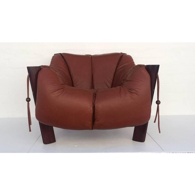 Jacaranda Rosewood & Leather Lounge Chair by Percival Lafer - Image 9 of 10