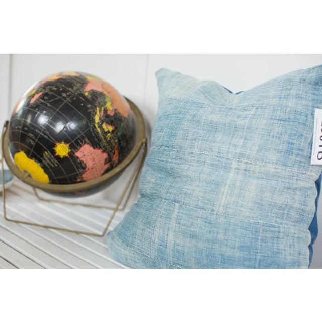 Vintage Light Blue Indigo Pillow - Image 3 of 5