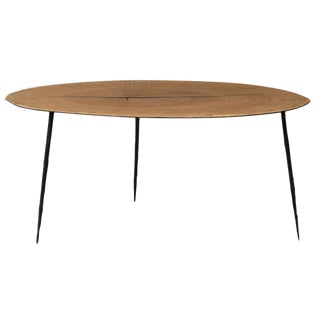 Wood Slice Round Coffee Table For Sale