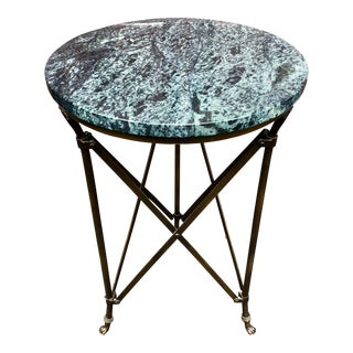 Neoclassical Jansen Style Green Stone Top Gueridon Table