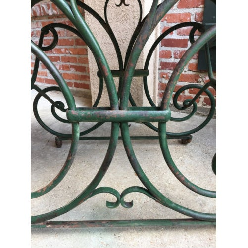 Art Nouveau 19th Century French Marble Pastry Baker's Table Art Nouveau Green Pâtisserie For Sale - Image 3 of 13