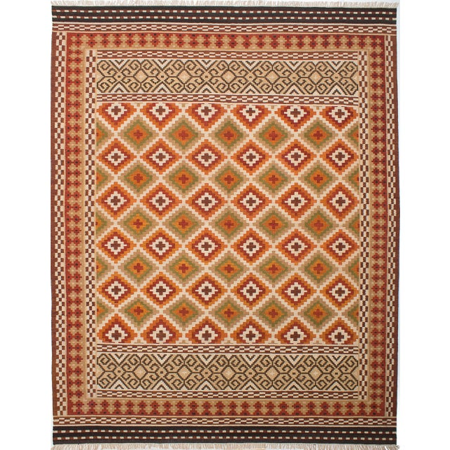 "Kashkoli Turkish Kilim Rug - 9'4"" X 11'11"" - Image 2 of 3"